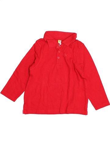Polo manches longues garçon ORCHESTRA rouge 5 ans hiver #1523745_1