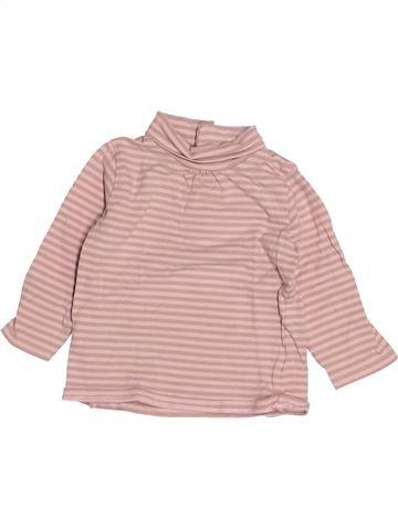 T-shirt col roulé fille VERTBAUDET rose 9 mois hiver #1523805_1
