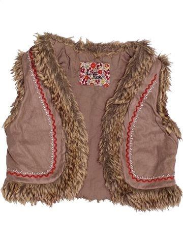 Chaleco niña LISA ROSE marrón 4 años invierno #1523880_1