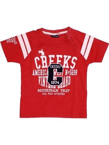 T-shirt manches courtes garçon CREEKS rouge 3 ans été #1523981_1
