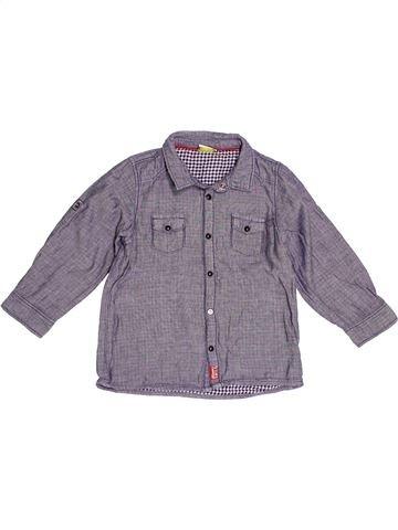 Chemise manches longues garçon TAPE À L'OEIL violet 3 ans hiver #1523985_1