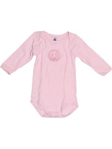 T-shirt manches longues fille PETIT BATEAU rose 6 mois hiver #1524226_1