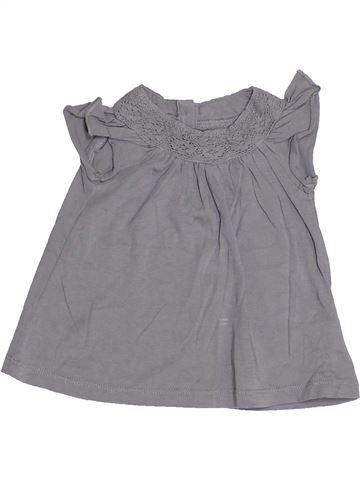 T-shirt manches courtes fille BOUT'CHOU gris 6 mois été #1524236_1