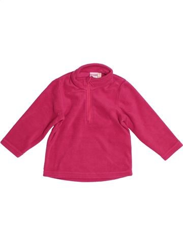 Pull fille QUECHUA rose 18 mois hiver #1524316_1
