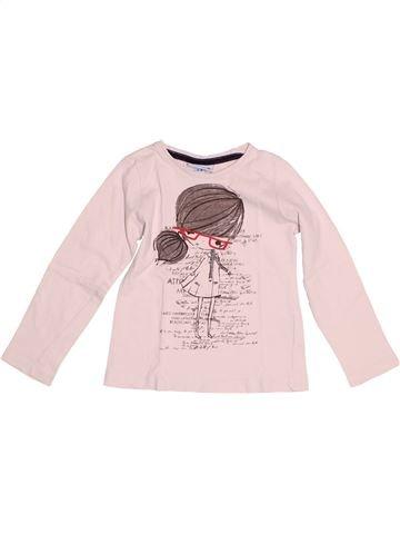 T-shirt manches longues fille BIMBUS rose 4 ans hiver #1524567_1