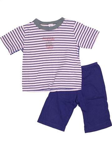 Pyjama 2 pièces garçon PETIT BATEAU violet 4 ans été #1524937_1
