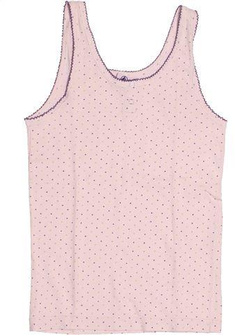 T-shirt sans manches fille PETIT BATEAU rose 10 ans été #1525139_1