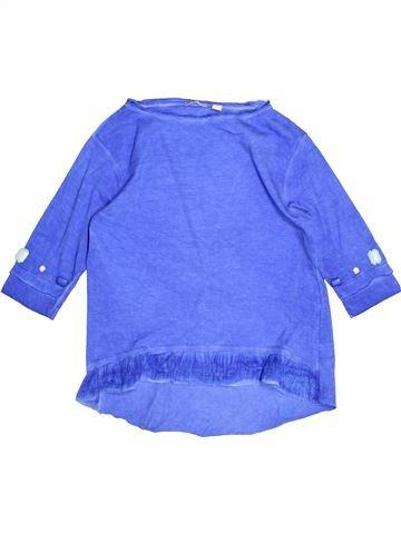 T-shirt manches longues fille SARABANDA bleu 6 ans hiver #1525497_1