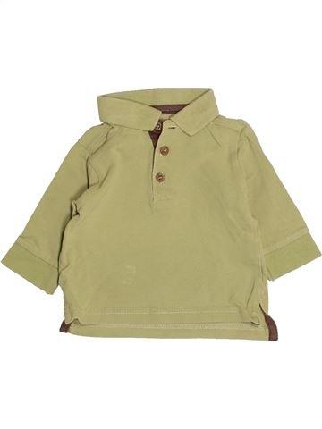 Polo manches longues garçon DPAM vert 3 mois hiver #1525521_1