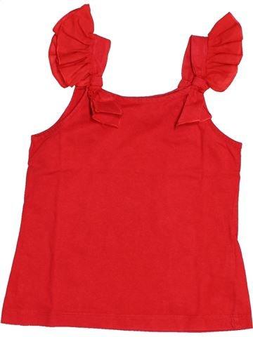 T-shirt sans manches fille DPAM rouge 6 ans été #1525649_1