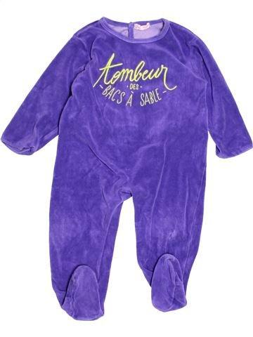 Pyjama 1 pièce garçon DPAM violet 2 ans hiver #1525732_1