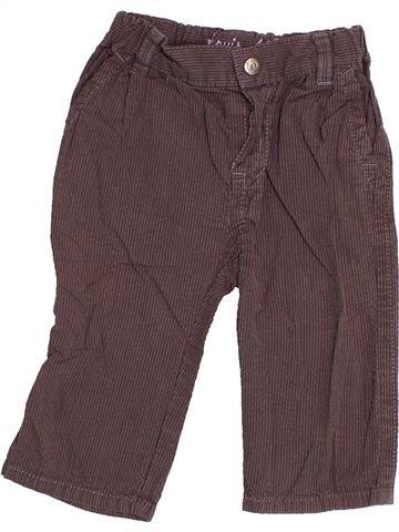 Pantalon garçon PETIT BATEAU violet 6 mois été #1526077_1