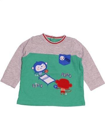 T-shirt manches longues garçon DPAM rose 6 mois hiver #1526262_1