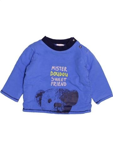 T-shirt manches longues garçon ABSORBA bleu 6 mois hiver #1526263_1