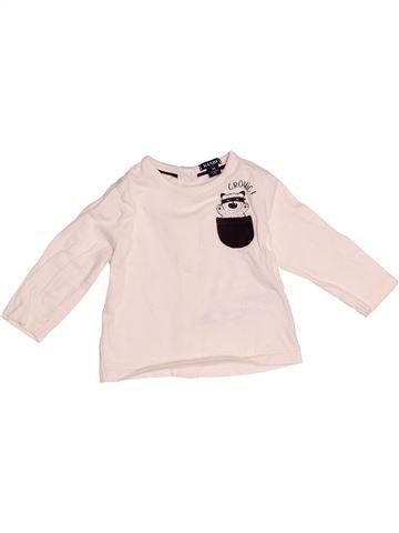 T-shirt manches longues garçon KIABI blanc 3 mois hiver #1526985_1