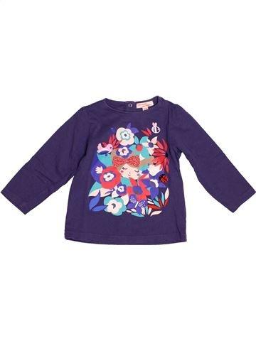 T-shirt manches longues fille DPAM bleu 2 ans hiver #1527150_1