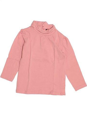 T-shirt col roulé fille KIABI rose 2 ans hiver #1527805_1