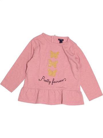 T-shirt manches longues fille KIABI rose 2 ans hiver #1527852_1