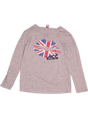 T-shirt manches longues fille KARL MARC JOHN gris 12 ans hiver #1527858_1