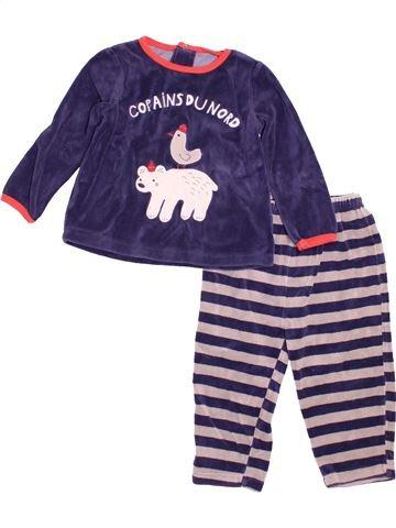 Pyjama 2 pièces garçon DPAM blanc 2 ans hiver #1527888_1