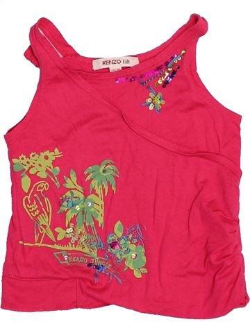 Camiseta sin mangas niña KENZO rojo 2 años verano #1528095_1