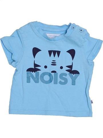 T-shirt manches courtes garçon OKAIDI bleu 3 mois été #1528315_1