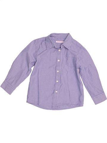 Chemise manches longues garçon MONOPRIX violet 4 ans hiver #1528745_1