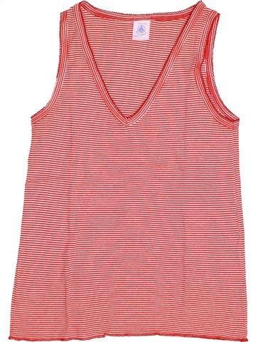 T-shirt sans manches fille PETIT BATEAU rose 12 ans été #1528774_1