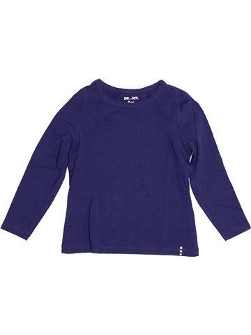 T-shirt manches longues fille DPAM bleu 4 ans hiver #1528910_1