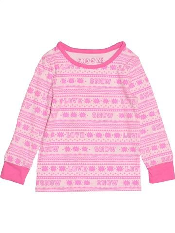 T-shirt manches longues fille MARKS & SPENCER rose 4 ans hiver #1529217_1