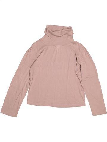 T-shirt col roulé fille VERTBAUDET rose 10 ans hiver #1529654_1