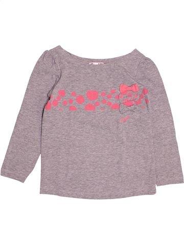 T-shirt manches longues fille DPAM violet 5 ans hiver #1529687_1