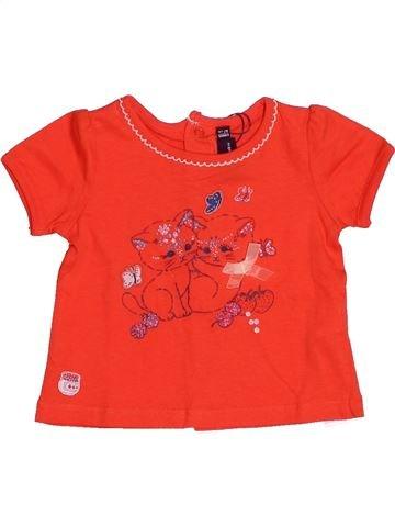 T-shirt manches courtes fille SERGENT MAJOR orange 6 mois été #1529816_1