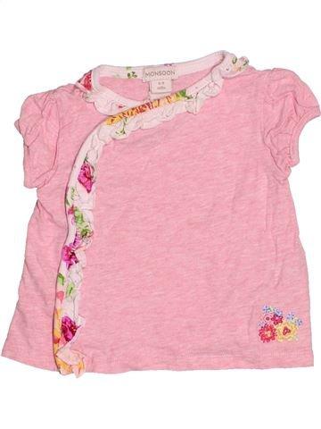 T-shirt manches courtes fille MONSOON rose 9 mois été #1530655_1