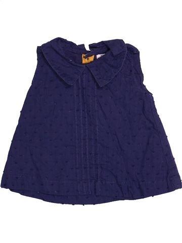 Blusa de manga corta niña MAMAS & PAPAS azul 6 meses verano #1530712_1