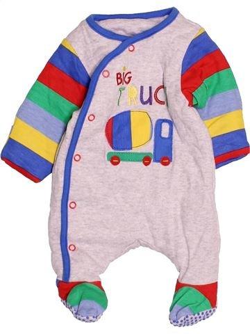 Pyjama 1 pièce garçon MOTHERCARE blanc naissance hiver #1531014_1