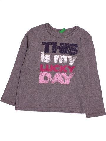 Camiseta de manga larga niña BENETTON violeta 4 años invierno #1531293_1