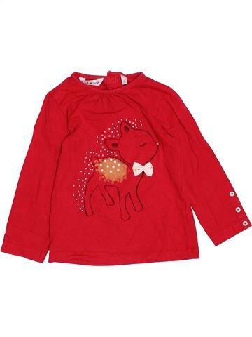 T-shirt manches longues fille KIABI rouge 3 ans hiver #1532281_1