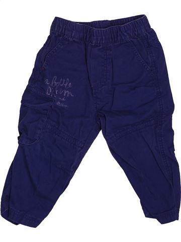 Pantalon garçon GRAIN DE BLÉ bleu 12 mois été #1532421_1
