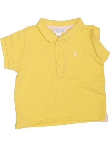 Polo manches courtes garçon OKAIDI jaune 6 mois été #1534672_1