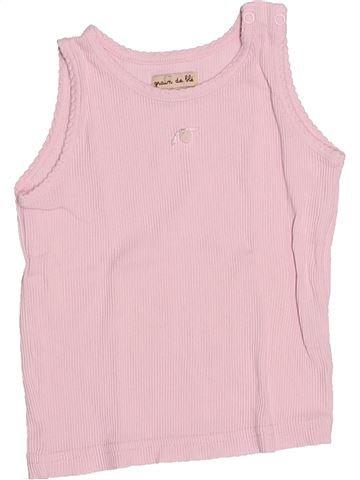 T-shirt sans manches fille GRAIN DE BLÉ rose 18 mois été #1535078_1