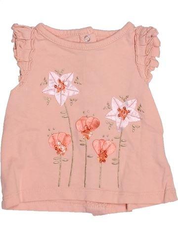 T-shirt manches courtes fille GEMO beige 3 mois été #1535479_1