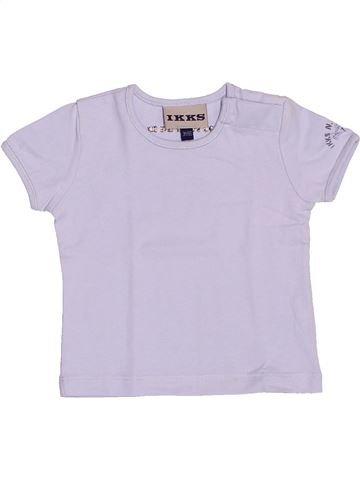 T-shirt manches courtes garçon IKKS blanc 3 mois été #1535629_1