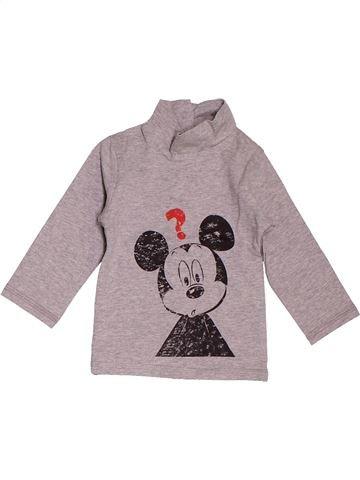 T-shirt col roulé garçon DISNEY violet 6 mois hiver #1535650_1