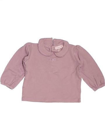 T-shirt manches longues fille GRAIN DE BLÉ beige 12 mois hiver #1535727_1