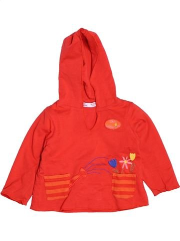 T-shirt manches longues fille DPAM orange 12 mois hiver #1536866_1