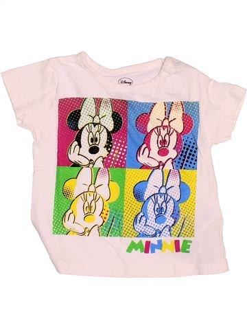 Camiseta de manga corta niña DISNEY blanco 12 meses verano #1536870_1