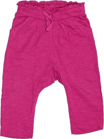 Pantalon fille LA REDOUTE rose 9 mois été #1536871_1