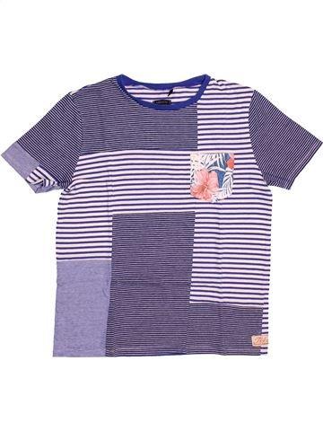 T-shirt manches courtes garçon IKKS violet 12 ans été #1537090_1