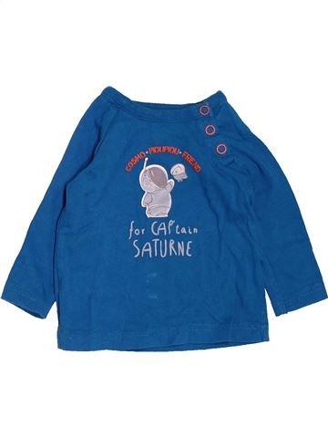 T-shirt manches longues garçon TAPE À L'OEIL bleu 6 mois hiver #1538444_1